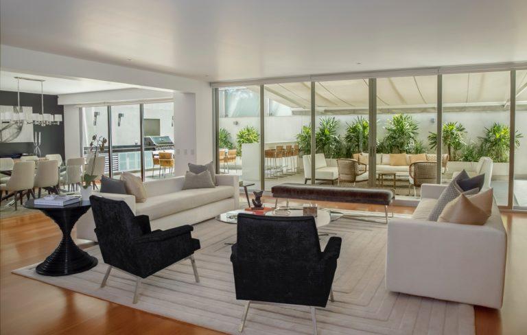 living room smart mirror